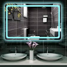 kjuhvbf beleuchteter badezimmerspiegel smart led weiß