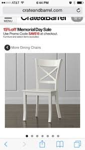 Crate And Barrel Dining Room Chairs by Village White Wood Dining Chair Crate And Barrel White Wood