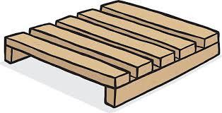 Wooden Pallet Vector Art Illustration