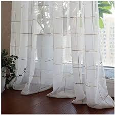 de lasisz plaid gaze moderne gardinen schlafzimmer