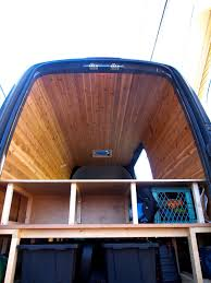 Picture Of Cedar Paneling For Van Interior
