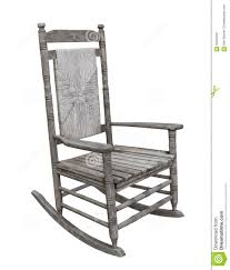 Old Rustic Wooden Rocking Chair Isolated. Stock Photo ...