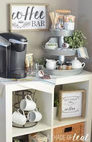 DIY Coffee Bar Office Decor Ideas