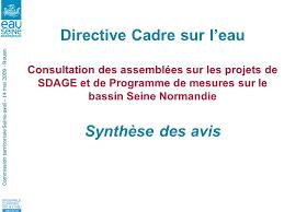 commission territoriale seine aval 14 mai rouen directive cadre