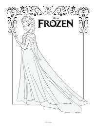 Free Printable Queen Elsa Coloring Pages Disney Frozen 5AV31