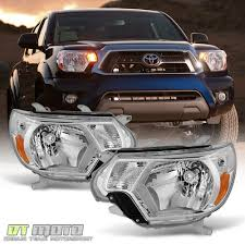 100 Toyota Truck Parts For 20122015 Tacoma Pickup Crystal Clear Headlights