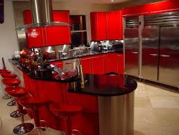 Amazing Black And Red Kitchen Design Awesome Ideas Decorating Decor S