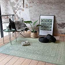 fraai teppich vintage grun 70x140cm kurzflor antik vintage klassik orientalisch wohnzimmer esszimmer schlafzimmer