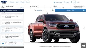 2019 Ford Ranger Configurator Secretly Goes Online [UPDATE] 2019 Ford Ranger First Look Welcome Home Motor Trend That New We Sure It Isnt A Rebadged Chevrolet Colorado Concept Truck Of The Week Ii Car Design News New Midsize Pickup Back In Usa Fall Compact Returns For 20 2018 Specs Prices Features Top Gear Pick Up Range Australia Looks To Capture Midsize Pickup Truck Crown History A Retrospective Small Gritty Kelley Blue Book