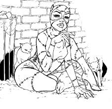 Free Catwoman Coloring Pages