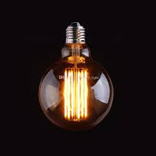 vintage led filament bulb edison g95 style gold tint 4w 6w