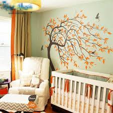 Huge White Tree Wall Sticker Nursery Tree Wall Decals Baby Nursery