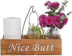 yxmyh schöne badezimmer deko box toilettenpapierhalter landhaus holzkiste aufbewahrungsbehälter rustikale wohndekoration braun