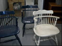 Used Wooden Captains Chairs by Painted Captains Chairs