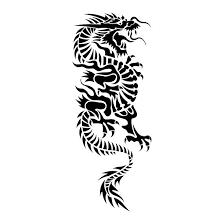 Great Tribal Chinese Dragon Tattoo Design