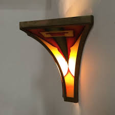 vintage deco style wall lights curved glass ztijl