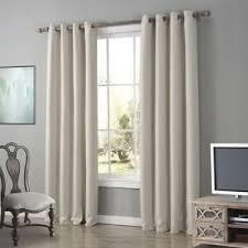 details about oxford gardine vorhang schlaf wohnzimmer mit ösen uni beige 1er pack