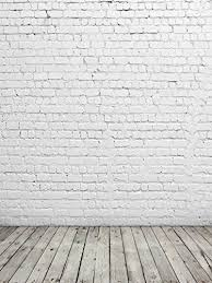150x200cm Seamless Photography Backdrop White Brick Wall With Grey Wood Floor Studio Background For Kids Photo