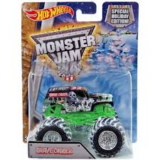 100 Hot Wheels Monster Truck Toys Jam Holiday Edition 25th Anniversary Grave Digger