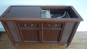 antique record player cabinet youtube