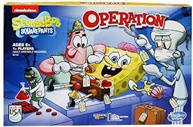 Hasbro Spongebob Squarepants Operation Board Game