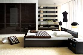 Bed Room Furniture Design Fair Wonderful Contemporary Bedroom Having White Fluffy Carpet Also Wooden Frames And Black Wood Bedside Table Decor