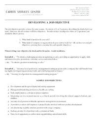 Part Time Job Resume Objective Samples Resume Job Objective For