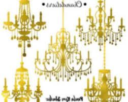 GOLD Wedding Chandelier Frames Clip Art Elegant Vintage Ideas For You