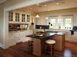 L Shaped Kitchen Island Dining Table Combination Design Layout Ideas With Stove