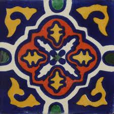 3x3 Blue Ceramic Tile by Decorative Talavera Tiles Gonz Decorations