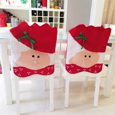 Lovely Christmas Chair Covers Mrs Santa Claus Decoration Dining Room Cover Home Party Decor