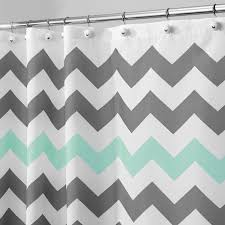 Yellow And Gray Bathroom Decor by Amazon Com Interdesign Chevron Shower Curtain 72 X 72 Inch Gray