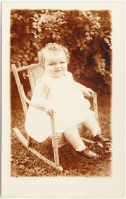 Papergreat: Ephemera For Lunch #37: Toddler In A Rocking Chair