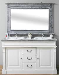 casa padrino landhausstil badezimmer set weiß grau 1 doppelwaschtisch 1 wandspiegel massivholz badezimmermöbel im landhausstil