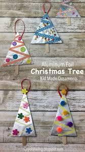 Aluminum Foil Christmas Tree Ornaments ChristmasOrnaments ChristmasCrafts ChristmasTree KidMadeChristmas