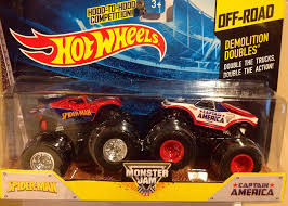 Amazon.com: Hot Wheels Monster Jam Demolition Doubles Spider-man Vs ... Alaide Australia May 02 2016an Isolated Shot Of An Unopened Kid Car Racing Power Wheels Playtime At The Park Giant Rc Monster Hot Monster Jam Shark Shop Cars Trucks Race Beli Aa Toys Mobil Remote Control 4 Wd Rock Crawler Mainan Marvel 3 Pack Captain America Iron Man Spiderman Ride On Quad Toy 6v Tough Atv Traction Tires Custom Rap Attack Metal Base Hot Wheels Jam 124 Scale Dc Comics 2011 Release Set Of Other Radio Spiderman Truck Tattoo 2014 Offroad Demolition Doubles Spiderman Lego 76133 Diecast Vehicle Walmartcom