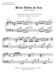 yiruma river flows in you partition gratuite free sheet