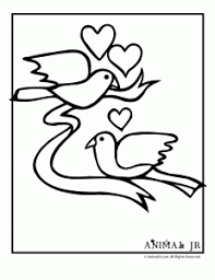Animal Valentine Coloring Pages