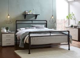 Ruskin Dark Metal Bed Frame