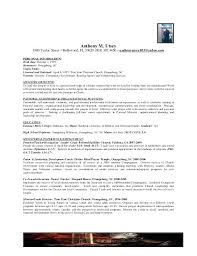 Pastoral Resume Examples Minister Sample