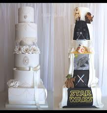Special Designed Wedding Cake Star Wars Theme Thought About My Fiances Cousin When I Saw This It Was There Engagement Lol