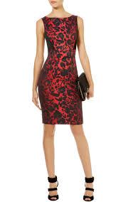 karen millen colourful leopard print dress in black lyst