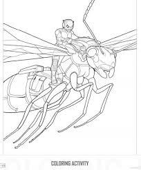 Free Antman Printable Coloring Activity With Antony