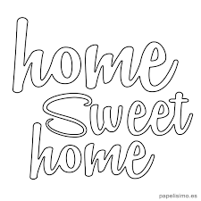 Letras Homesweethomehogardulcehogardiy Dibujos Con Mensajes