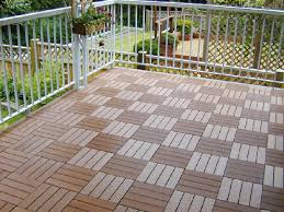 decking authentic appearance with composite deck tiles