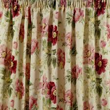 Ebay Curtains Laura Ashley by Laura Ashley Peony Garden Pencil Pleat Curtains Cranberry W64
