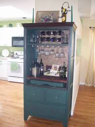 old armoire into a bar you could use a tv cabinet as well