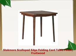 Stakmore Scalloped Edge Folding Card Table Finish Fruitwood - Video ... Stakmore Solid Wood Folding Chair With Padded Seat Costco Weekender Uhuru Fniture Colctibles Sold 12228 12265 32 Mid Norquist Coronet Vintage Card Table And Chairs Best Target Remodel Planning Hardwood Classic Straight Edge Table Fruitwood Finish Find More For Sale At Card Ding Forrenco Fniture Kmart Stakmore Folding Chairs And Four Etsy Discount Genuine Set