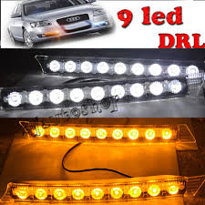 2X Car 9 LED DRL Driving Daylight Daytime Running Safety Turn Signal ... Led Drl Daytime Running Light Fog Lamp Fits Ford Ranger T6 Px2 Mk2 Unique Bargains Truck Car White 6 Smd Driving 2009 2014 Board Lights F150ledscom Freeeasy Canyon Marker Mod Leds Chevy Colorado Gmc 7 Round 50w 30w H4 High Low Beam Led 10watt Xkglow 3 Mode Ultra Bright 14pcs Led Universal 2x45cm Auto Fxible Drl With Step Bar 1pcs Styling 12w Lights Dc 12v Archives Mr Kustom Accsories