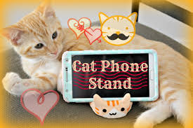 Cat Phone Stand Tablet DIY Made Of Air Dry Clay